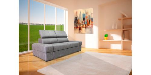 Прямой диван Висмут с подъемными полупуфами